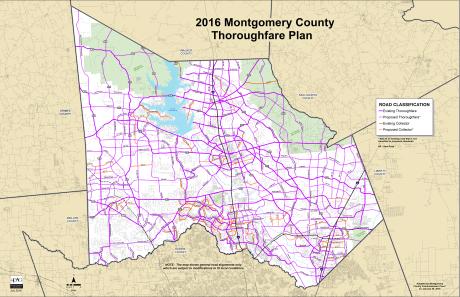 2016 Montgomery County Thoroughfare Plan Map